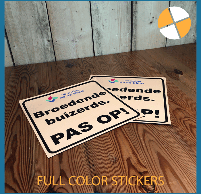 FULL COLOUR STICKERS   – Waterschap Aa en Maas