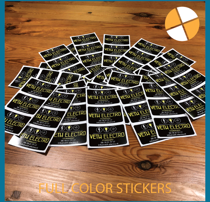 FULL COLOUR STICKERS   – Veth Electro