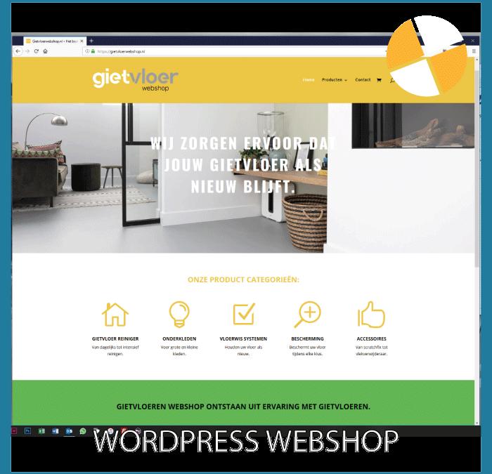 WORDPRESS WEBSHOP – GIETVLOERWEBSHOP