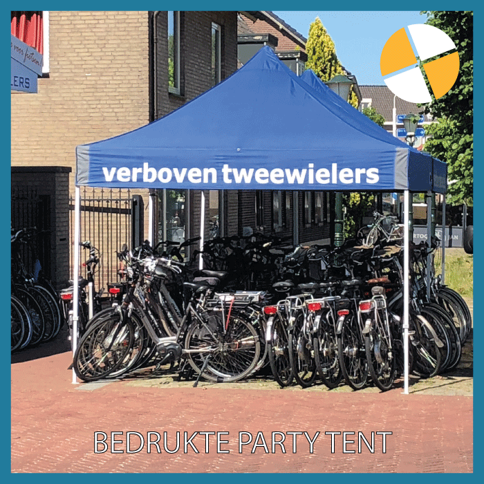 PARTY TENT – VERBOVEN TWEEWIELERS