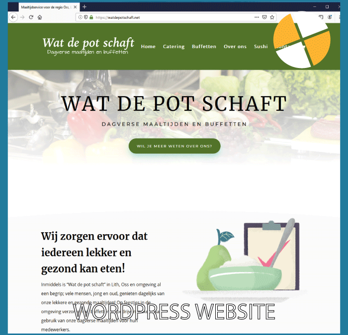 WORDPRESS WEBSITE – WAT DE POT SCHAFT