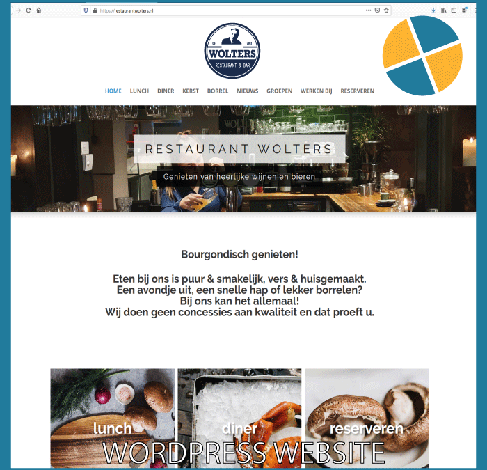 WORDPRESS WEBSITE – RESTAURANT WOLTERS