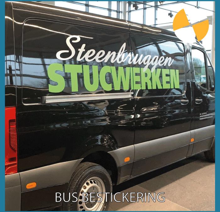 BUS BELETTERING – STEENBRUGGEN STUCWERKEN
