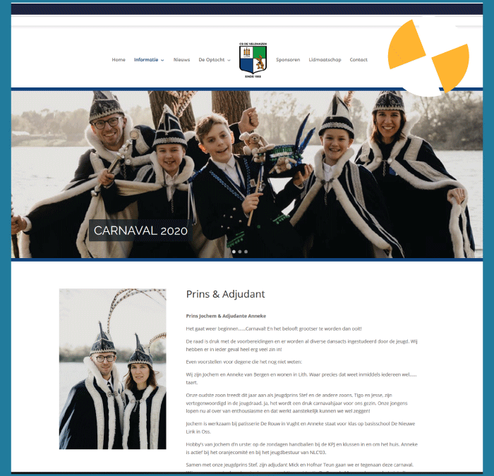 WORDPRESS WEBSITE- CS DE VELDHAZEN LITH