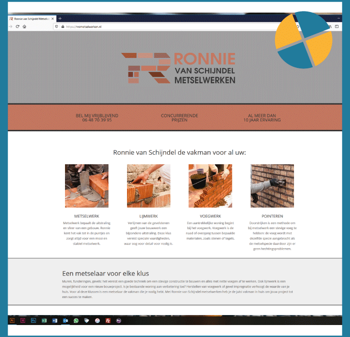 WORDPRESS WEBSITE- RVS Metselwerken